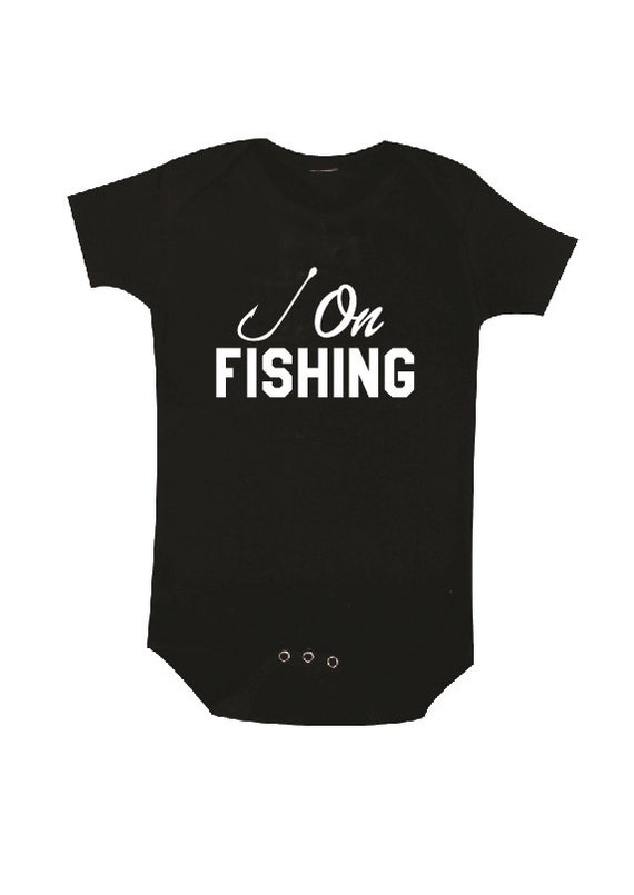 Hooked on fishing baby clothes baby bodysuit baby shower for Baby fishing shirts
