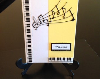 Music greeting card Fanfare