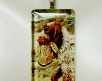 German Wirehaired Pointer pendant and chain - DGP02-124