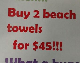 Beach towel Sale