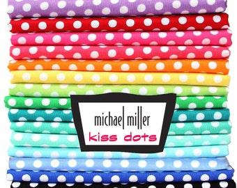 Kiss Dots - Michael Miller Fabrics  14 Colors / Your Choice