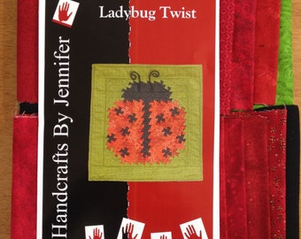 "ON SALE!  Ladybug Twist Wall Quilt Kit 28"" x 29"""