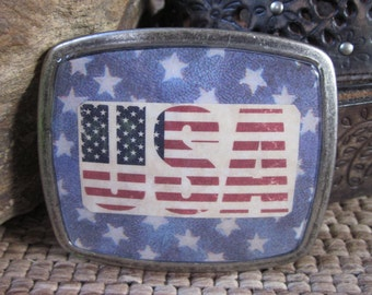 Bohemian belt buckle bohemian accessories American flag stars & stripes rustic Belt Buckle Lavish Lucy Designs military belt buckle