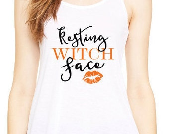 Resting Witch Face  Shirt, Halloween Shirt, Custom Shirt, Personalized Shirt, Women's Halloween Shirt, Witch Face