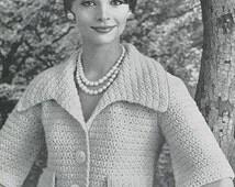 CROCHET PATTERN Vintage Shortie Jacket Instant Download PDF