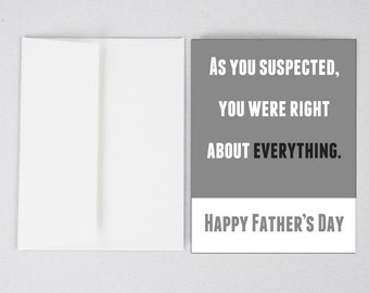 Father's Day Card, Funny Father's Day Card, Father's Day Card, Greeting Card, Father's Day, Gifts for Dad, Father's Day Print