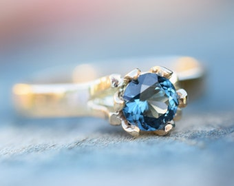 Sapphire engagement ring, Blue sapphire ring, gold ring, Australian sapphire, natural genuine untreated sapphire, conflict free, fair trade