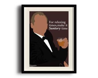 Lost in Translation minimalist poster, Bill Murray digital art poster