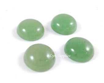 Green Aventurine Cabochons 12mm 4pcs Imitation Jade Green Flatback Loose Beads