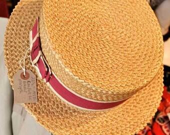 Men's Vintage 1930s M Forsyth Straw Boater Hat