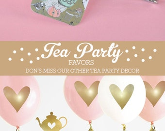 Tea Party Favors - Tea Party Bridal Shower Girls Tea Party Decor Tea Party Baby Shower Birthday Party Heart Tea Infuser (EB2376) set of 12|