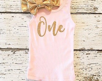 Baby girl clothing HALF ONE TWO three Birthday tank tops. (tank only)