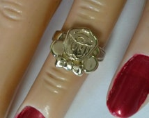 Size 3.25 Estate 10k Yellow Gold Minnie Mouse Disney Ring Midi Pinky Daughter