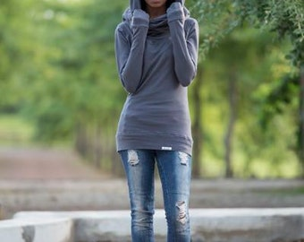 Long Sleeve Top - Versatile Winter Top. Ideal to take on holiday. Can be worn in three different ways!