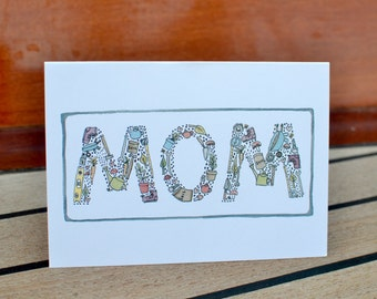"""Happy Mothers Day Card """"M O M"""""""