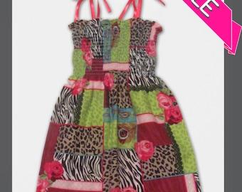ON SALE - Girls 2T Animal Print Shirred Sundress