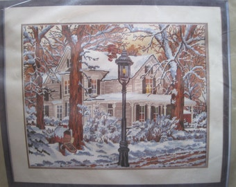 "Needlepoint Kit  - Winter Scene - Something Special Candamar Designs #30550 - 20"" x 16"" - NEW NIP"