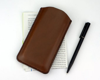 iPhone SE Case Leather iPhone 5S Pouch, iPhone 5s Case Leather iPhone SE Sleeve, iPhone SE Leather Case, Brown Leather Sleeve for iPhone se