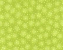 Starlet - Kiwi Green Star print by Blank Quilting (BTR6383-Kiwi) - Fabric Yardage