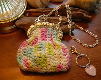 Crocheted Coin Purse or Special Items and/or Occasion Purse