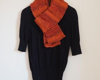 Womens orange chunky knit scarf Orange Knitted Scarf Chunky scarf Orange knit scarf Orange scarf Orange scarves Orange knitting scarves 613