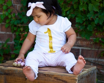 Girl Smash Outfit - Pink Gold - Smash Outfit - Personalized Birthday
