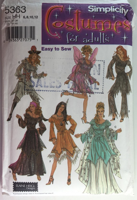 Simplicity 5363 Misses\' Fantasy Witch, Fairy or Angel Costume ...