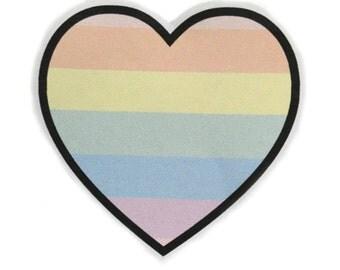 Pastel Gay Pride Heart Sticker