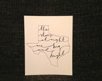 "Texas ""The Stars at Night"" State Art"
