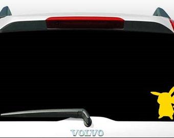 Pikachu Pokemon Silhouette Car Window Laptop Tablet Vinyl Sticker Decal - CHOOSE COLOR