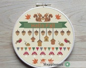 cross stitch pattern Fall, autumn, PDF, DIY ** instant download**