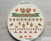 cross stitch pattern Fall, autumn, PDF, DIY ** instant download**