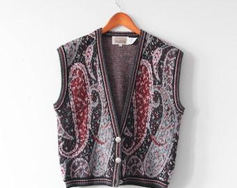 S A L E ⎮ 80's Vintage Paisly Patterned Vest