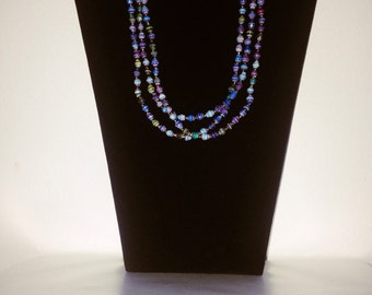 Paper beads Necklace218 with three strands. #Handmade with love. #paperbeadjewelryrocks #perfectgift.