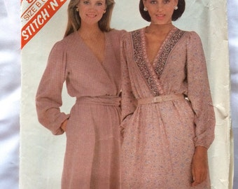 1982 Stitch 'N Save pattern # 8158, Misses Size B (14-16-18), Dress, Uncut