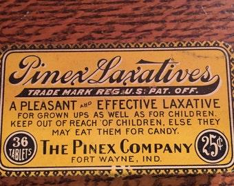 1920s Laxative Tin Stashbox/ Pill Box