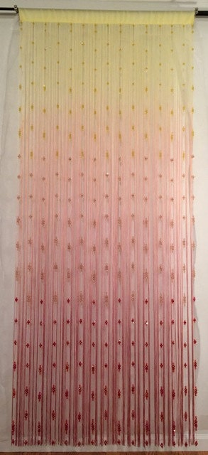 glass bead curtain room divider wall
