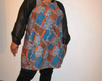 African Print Tunic Top/Cover-up