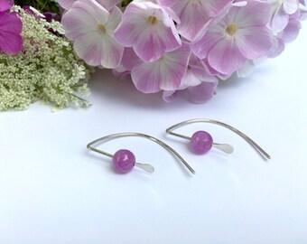 Lavender Earrings Minimalist Earrings Pink Earrings Minimalist Jewelry Gift for Girlfriend Gift for Daughter Gift for Teen Girl Gift for Mom