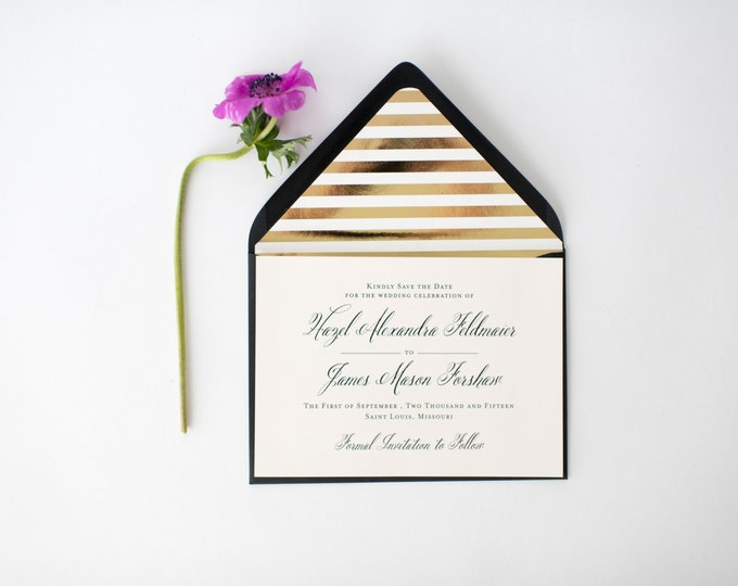 hazel save the date invitation  -   customizable (sets of 10)  //  lola louie paperie
