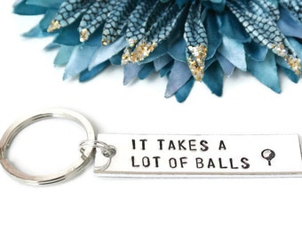 It Takes A Lot of Balls Golf Keychain | Golf Gifts For Dad | Golf Gifts For Men | Fathers Day Golf | Gifts For Husband