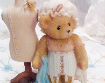 Cherished bears  bear gift shabby chic cottage chic dress up shabby chic bears