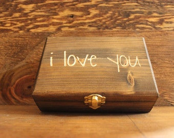 "Wooden box ""I love you"""