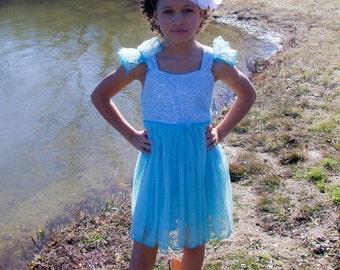 Girl Sequin Dress,  Sale, Elsa Frozen Dress, Toddler girl tulle dress, Girl dress, Frozen sequin dress, Sequin party dress