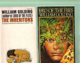 William Golding Book Set. Lord Of The Flies (1980) + The Inheritors (1970). Small Paperbacks In Very Good Used Condition*. Collector Copies.