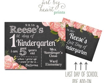 First Day of School Sign / First Day of Preschool / First Day of Kindergarten / First Day of Pre-K / Back to School Sign Digital File