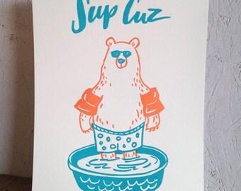 Sup Cuz Bear Print