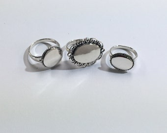 Sterling Silver Engravable Rings