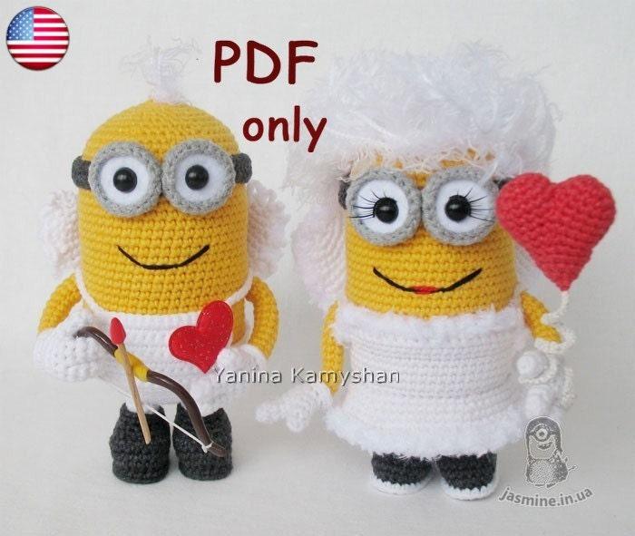 Amigurumi Minion Yapilisi : Valentine Minion Bundle amigurumi crochet patterns pdf