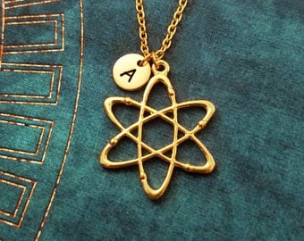 Atom Necklace Atom Jewelry Chemistry Jewelry Charm Necklace Physics Necklace Science Necklace Scientist Molecule Necklace Physicist Gift